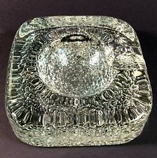 Vintage Art Glass Ashtray Scandinavian Pebbled Base Possibly Iittala
