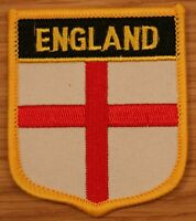 ENGLAND St George Shield Country Flag Embroidered PATCH Badge P1