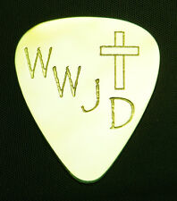 WWJD - What Would Jesus Do - Solid Brass Guitar Pick, Acoustic, Electric, Bass