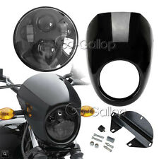 "5 3/4"" LED Daymaker Headlight + Fairing For Harley XL Sportster 1200 Custom"