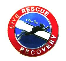 Dive Rescue Recovery Collar Pin Device Silver Scuba Diver Diving Team 67S2 New