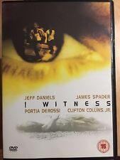 Jeff Daniels James Spader I WITNESS ~ 2002 Crime Thriller | UK DVD