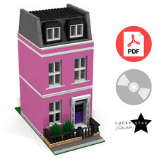 Lego Modular PDF Instructions - Pink Georgian Townhouse - London Terraced House