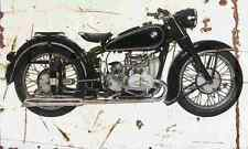 BMW R51 2 1950 Aged Vintage SIGN A4 Retro