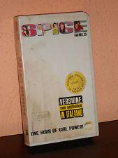 """VHS VIDEOCASSETTA MUSICA""""SPICE GIRLS"""" CANZONI, ROCK, CULT MOVIE"""