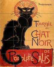 Art Deco Cat Vintage Chat Noir Ceramic Mural Backsplash Bath Tile #2291