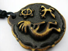 25pcs Yak Bone Island Taino Style Turtle Frog Pendant Biker Cool Necklace
