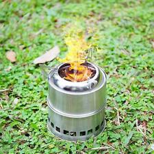 Portable Outdoor Wood Fuel Backpacking Emergency Survival Burning Camping Stove