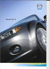 MAZDA MX-5 SOFT TOP AND ROADSTER COUPE SALES BROCHURE MAY 2008