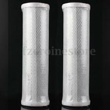 2 Pcs Gray 10-inch Water Filter Carbon Block Cartridge Water Purifier Cartridge
