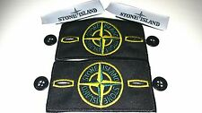 2×Genuine stone island badges with button and labels