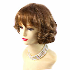 Beautiful Short Wavy Hair Blonde mix  Ladies Wigs Summer Style from WIWIGS UK