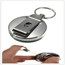 Attache Rétractable Badge ID Porte Clés Pince Ceinture Enrouleur Chaine 655mm