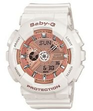 Casio Baby-G * BA110-7A1 Anadigi Gloss White & Rose Gold for Women COD PayPal