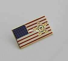 USSS United States Secret Service Lapel Hat Pin American Flag