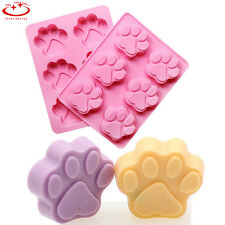 Dog Cat Paw Print Silicone Chocolate Bakeware Mould Cookie Candy Soap Ice Mould