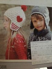 Boys & Girls Scandinavian Jackets And Matching Hats 2x Knitting Patterns In One.