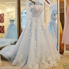 2017 Spring Luxury 3D Princess Bridal Ball Gowns Cinderella Wedding Dress Custom