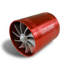 "2.5"" Air Intake Turbo Turbine Turbonator Gas Fuel Saver Fan Supercharger Red"