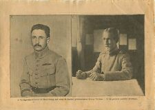 WWI Capitaine de Beauchamp Verdun/General Averescu Romania War 1917 ILLUSTRATION