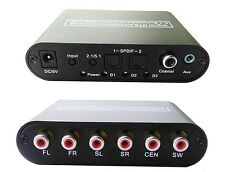 WGF 5.1ch audio decoder SPDIF Coaxial to RCA DTS AC3 digital to 5.1 analog Conve