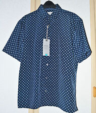 BNWT M&S Mens Easy Care Soft Touch Geometric Print Shirt Size S