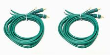 Pair cable RCA phono lead ground wire Technics SL1200 SL1210 MK2 MK5 1.5 length