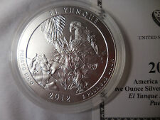 2012 El Yunque quarter, America the Beautiful 5 oz Silver Uncirculated