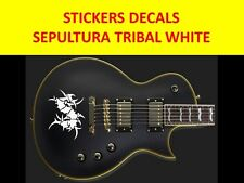 SEPULTURA TRIBAL STICKER GUITAR WHITE VISIT OUR STORE WITH MANY MORE MODELS