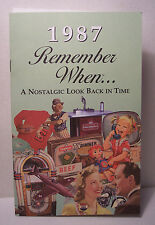 30th Birthday / Anniversary - 1987 Remember When Nostalgic Book Card  - NEW