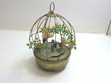 VINTAGE ANIMATED 2 BIRD CAGE MUSIC BOX FROM SCHMID / JAPAN / SOLD AS-IS