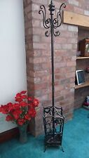 Ornate Antique Bronze Metal Finish Coat  & Umbrella Stand Removable Drip Tray