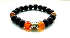10 mm Men's Shungite Agate  Gemstones Beads Shamballa Adjustable Bracelet