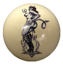 Pool/Billiards Devil Star Girl Custom Cue Ball New and Unique!