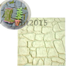 Fondant Cake Silicone Mold Dry Stone Wall Cupcake Mould  Lace Mat Chocolate NEW