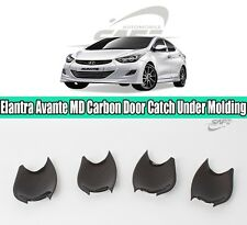 SAFE Carbon Door Catch Under Molding 4Pcs For Hyundai Elantra Avante 2011-2016