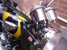 THRUXTON & BONNEVILLE STAINLESS STEEL CLOCK BOTTOMS