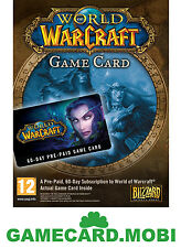WoW 60 Days Game Card - WORLD OF WARCRAFT EU TIME GAMECARD PREPAID/Game Timecard