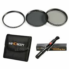 58mm Slim UV CPL ND4 Filterset Kamera Objektiv Graufilter ND + Reinigungspinsel