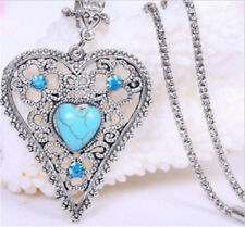 Hollow Heart Turquoise Explosion models fashion retro false collar necklace