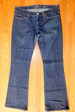 ** SEVEN 7 FOR ALL MANKIND ** Awesome Dark Blue Flare Excellent Jeans 30 x 31