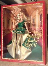 2011 Holiday Barbie Doll Green Gold Celebration Christmas Blonde NRFB T7914 Rare