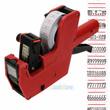 MX-5500 8 Digits Price Tag Gun + 5000 White w/ Red Lines Labels +1 Ink US Ship