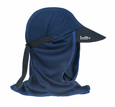 Mens  Boys blue UV Sun Protection UPF 50+  Legionnaire Cap / Hat