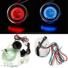 Universal 2'' 52mm PSI Turbo Auto Car LED Vacuum Boost Meter Gauge Red-Blue New