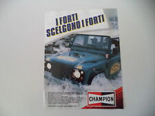 advertising Pubblicità 1987 CHAMPION e LAND ROVER CAMEL TROPHY