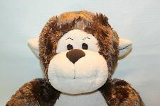 Build a Bear Brown Monkey Plush Stuffed Animal Lovey Jungle Nursery Decor  19""