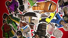 50 MINI LEGO BATMAN VINYL STICKERS PARTY BAG FILLERS