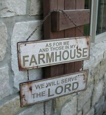 Farmhouse Hanging Metal SIGN*Primitive/French Country Kitchen/Christian Decor