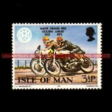 HOLMES Alan NORTON 500 MANX GRAND PRIX Isle of MAN 1957 Timbre Poste Moto